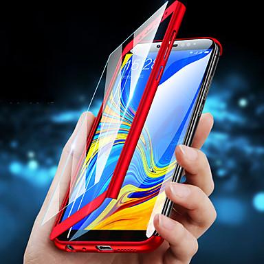 Недорогие Чехлы и кейсы для Galaxy S6-Кейс для Назначение Huawei S9 / S9 Plus / S8 Plus Защита от удара Чехол Однотонный Твердый ПК