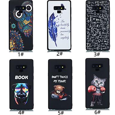 voordelige Galaxy Note-serie hoesjes / covers-hoesje Voor Samsung Galaxy Note 9 Ultradun / Patroon Achterkant dier / Cartoon / Veren Zacht TPU