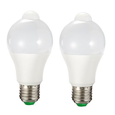 Недорогие Светодиодные электролампы-2pcs 9 W Умная LED лампа 750 lm E26 / E27 A60(A19) 15 Светодиодные бусины SMD 2835 Датчик Управление освещением Тёплый белый Белый 85-265 V