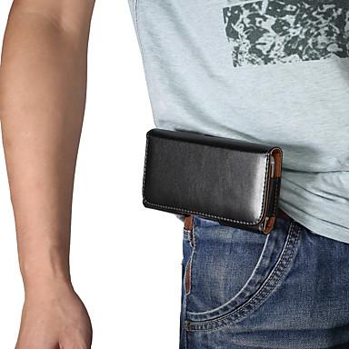 billige Etuier til Lenovo-Etui Til Blackberry / Apple / Samsung Galaxy Universel Sportarmbånd / Kortholder Bæltetasker / Pose etui Ensfarvet Blødt PU Læder for Universel