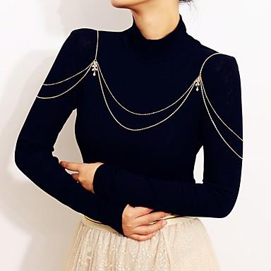 preiswerte Körperschmuck-Damen Körperschmuck 90 cm Körper-Kette / Bauchkette Gold / Silber Aleación Modeschmuck Für Hochzeit / Party / Verlobung Sommer