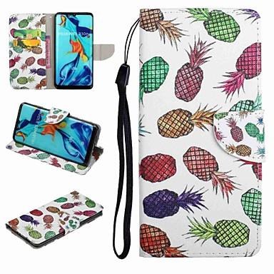 voordelige Huawei Y-serie hoesjes / covers-hoesje Voor Huawei Honor 9 / Honor 8 / Huawei Honor 7 Kaarthouder / met standaard / Flip Volledig hoesje Voedsel / Cartoon Hard PU-nahka