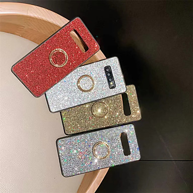 voordelige Galaxy S-serie hoesjes / covers-hoesje Voor Samsung Galaxy S9 / S9 Plus / S8 Plus Strass / Ringhouder Achterkant Effen Zacht TPU