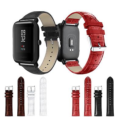 voordelige Horlogebandjes voor Samsung-Horlogeband voor Huami Amazfit Bip Younth Watch Samsung Galaxy Sportband Echt leer Polsband