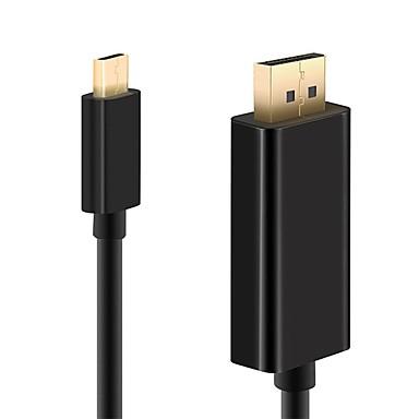 ieftine Cabluri Mac-DP / Tip C Adapter 1m-1.99m / 3ft-6ft 1080P Plastic & Metal / ABS + PC Adaptor pentru cablu USB Pentru Macbook