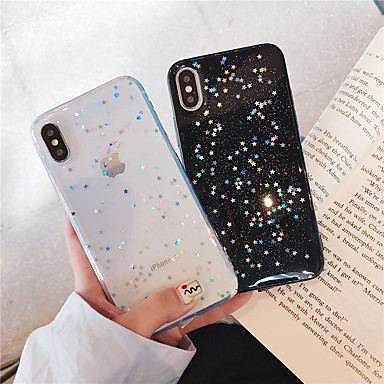 voordelige iPhone-hoesjes-hoesje voor apple iphone xr / iphone xs max glitter shine / patroon achterkant glitter shine soft tpu voor iphone x / xs / 6/6 plus / 6s / 6s plus / 7/7 plus / 8/8 plus