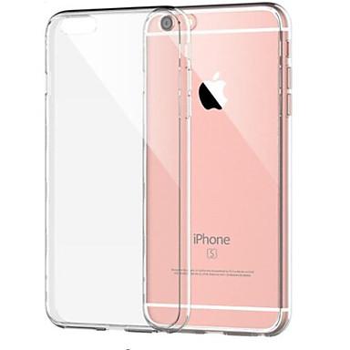 voordelige iPhone 7 hoesjes-hoesje Voor Apple iPhone 8 Plus / iPhone 8 / iPhone 7 Plus Schokbestendig / Transparant Achterkant Effen Zacht TPU