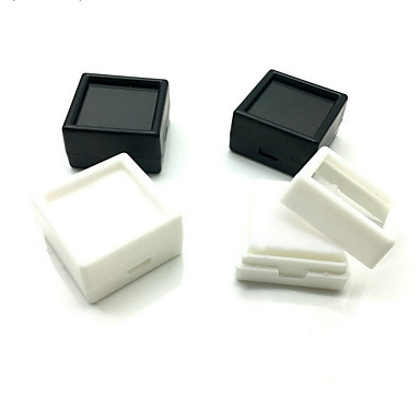 Cubic Cutii de Bijuterii - Negru, Alb 3 cm 3 cm 2 cm / 4 buc