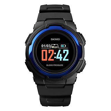 Χαμηλού Κόστους Ανδρικά ρολόγια-SKMEI Ανδρικά Στρατιωτικό Ρολόι Ψηφιακό σιλικόνη Μαύρο / Πράσινο 30 m Στρατιωτικό Bluetooth Smart Ψηφιακό Υπαίθριο Μοντέρνα - Μαύρο Πράσινο Μπλε Ενας χρόνος Διάρκεια Ζωής Μπαταρίας