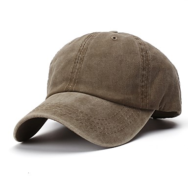 cheap Men's Fashion Clothing-Unisex Basic Cotton Baseball Cap-Solid Colored All Seasons Army Green Khaki Royal Blue