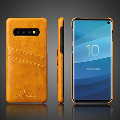 voordelige Galaxy S-serie hoesjes / covers-hoesje Voor Samsung Galaxy S9 / S9 Plus / S8 Plus Kaarthouder / Schokbestendig Achterkant Effen Hard aitoa nahkaa