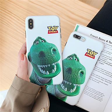 voordelige iPhone X hoesjes-hoesje Voor Apple iPhone XS / iPhone XR / iPhone XS Max IMD / Patroon Achterkant dier / 3D Cartoon Zacht TPU