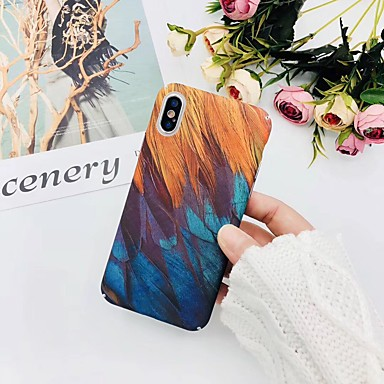 voordelige iPhone-hoesjes-hoesje voor hot model apple iphone xr iphone xs max patroon achterkant hoesje veren hard plastic voor iphone 6 6 plus 6s 6s plus 7 8 7plus 8plus x xs xr xs max