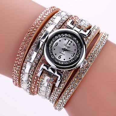 781372b6f349 abordables Relojes de Mujer-Mujer Reloj Pulsera Zirconia Cúbica Bohemio Moda  Negro Rojo Marrón Cuero