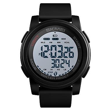 זול שעוני גברים-SKMEI בגדי ריקוד גברים שעונים צבאיים דיגיטלי סיליקוןריצה שחור / כחול / ירוק 50 m Military עמיד במים Alarm דיגיטלי חוץ אופנתי - שחור לבן שחור / כחול לבן / כחול שנה אחת חיי סוללה