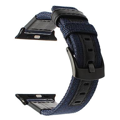 Недорогие Ремешки для Apple Watch-Ремешок для часов для Серия Apple Watch 5/4/3/2/1 Apple Классическая застежка Нейлон Повязка на запястье