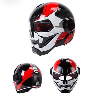 저렴한 헬맷 & 마스크-오토바이 헬멧 d.o.t 인증 motocross 전체 얼굴 casco moto 플립 오픈 마스크 헬멧, 철 남자 변압기