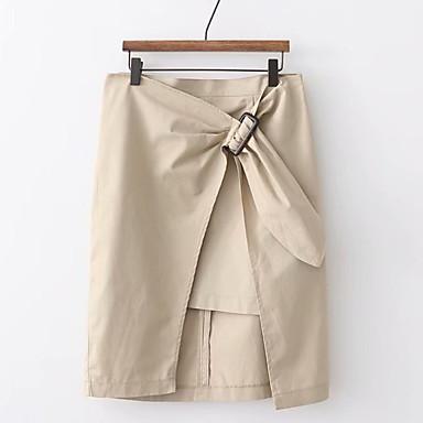 billige Nederdele-Kvinder over knæ en linje nederdele - solidfarvet