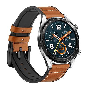 Недорогие Ремешки для часов Huawei-Ремешок для часов для Huawei Watch Huawei Современная застежка Кожа / силиконовый Повязка на запястье
