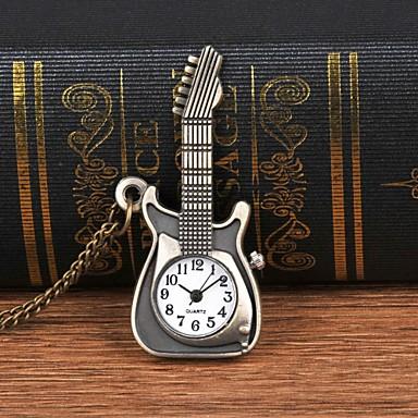 levne Pánské-Pánské Kapesní hodinky Křemenný Brązowy kreativita Velký ciferník Analogové Na běžné nošení Módní - Bronzová
