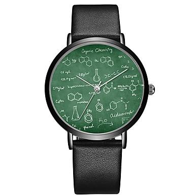 זול שעוני גברים-בגדי ריקוד גברים שעוני ספורט קווארץ עור אפור 30 m כרונוגרף חמוד יצירתי אנלוגי פאר קלסי - ירוק בהיר ירוק כהה פרי ירוק שנתיים חיי סוללה