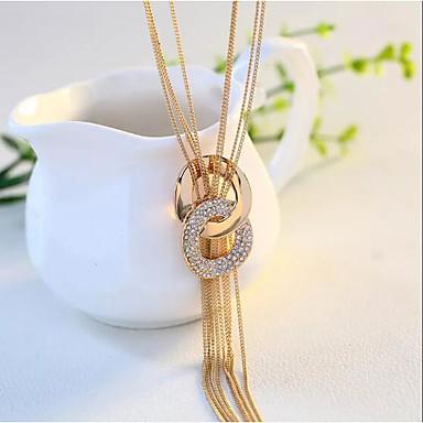 billige Mode Halskæde-savner dig kvinders kvast lang halskæde zircon sød mode dejlig guld sølv 70 cm halskæde smykker 1pc til gaden dagligt