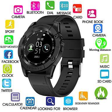 זול שעונים חכמים-Kimlink SW98 גברים חכמים שעונים Android Blootooth מסך מגע כלוריות שנשרפו שיחות ללא מגע יד מצלמה מרחק מעקב מד צעדים מזכיר שיחות מד פעילות מעקב שינה תזכורת בישיבה / 0.3 MP / Alarm Clock / חיישן כבידה