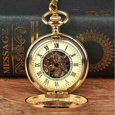 Χαμηλού Κόστους Ανδρικά ρολόγια-Ανδρικά Ρολόι Τσέπης Μηχανικό κούρδισμα Χρυσό Νεό Σχέδιο Καθημερινό Ρολόι Αναλογικό Νέα άφιξη Steampunk Σκελετός - Χρυσό