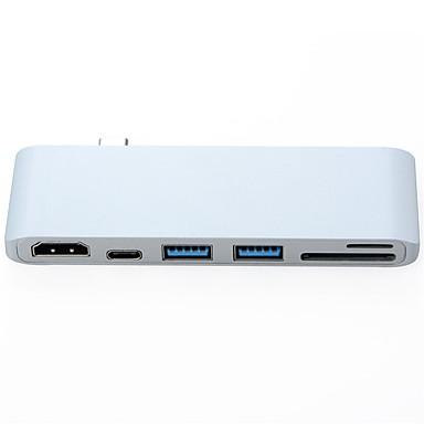 abordables Câbles pour Mac-OTG / HDMI / DP Adaptateur / Câble <1m / 3ft Tout-en-un / OTG Plastique et métal / ABS + PC Adaptateur de câble USB Pour Macbook