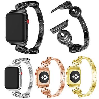 Недорогие Ремешки для Apple Watch-Ремешок для часов для Apple Watch Series 4/3/2/1 Apple Классическая застежка / Инструменты сделай-сам Металл Повязка на запястье