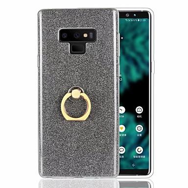 voordelige Galaxy Note 5 Hoesjes / covers-hoesje Voor Samsung Galaxy Note 9 / Note 8 / Note 5 Schokbestendig / Ringhouder / Ultradun Achterkant Glitterglans Zacht TPU
