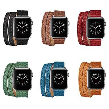 voordelige Smartwatch-accessoires-Horlogeband voor Apple Watch Series 5/4/3/2/1 Apple Sportband Echt leer Polsband