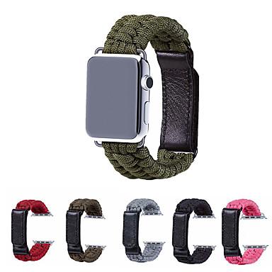 voordelige Smartwatch-accessoires-Horlogeband voor Apple Watch Series 5/4/3/2/1 Apple Sportband Nylon / Echt leer Polsband