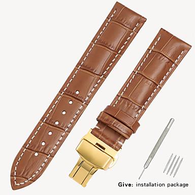 billige Herreure-erstatningsvæv 1853 mænds læder ur med locke kvinders læder konge casio longines armbånd tilbehør 16/18/19/20 / 21mm