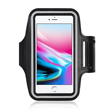 Недорогие Кейсы для iPhone-Кейс для Назначение Apple iPhone X / iPhone 8 / iPhone 7 Спортивныеповязки / Защита от влаги Чехол / С ремешком на руку Однотонный Мягкий Нейлон