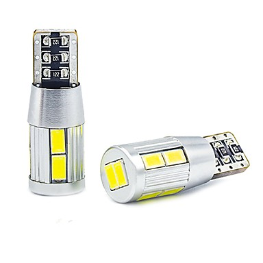 voordelige Motorverlichting-2 stks super witte t10 wig 10 smd 5630 led-lampen w5w 2825 158 192 168 194