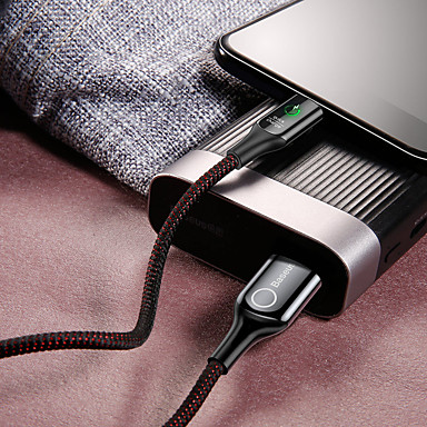 Недорогие Универсальные аксессуары для мобильных телефонов-Type-C Кабель 1.0m (3FT) Плетение / Быстрая зарядка Алюминий / Нейлон Адаптер USB-кабеля Назначение Samsung / Huawei / Xiaomi