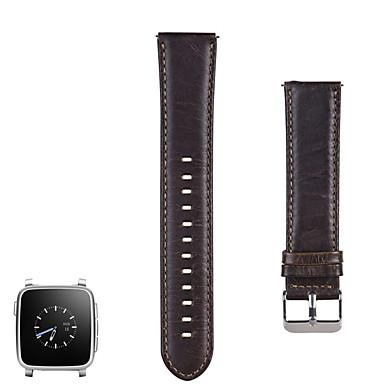 voordelige Smartwatch-accessoires-Horlogeband voor Pebble Time / Pebble Time Steel Pebble Sportband Roestvrij staal / Leer Polsband