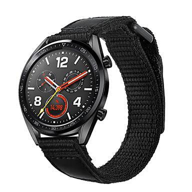 Недорогие Ремешки для часов Huawei-Ремешок для часов для Huawei Watch GT Huawei Классическая застежка Нейлон Повязка на запястье