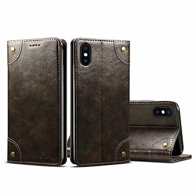 Coque Pour Apple iPhone XR / iPhone XS Max Portefeuille / Porte Carte Coque Intégrale Couleur Pleine Dur faux cuir pour iPhone XS / iPhone XR / iPhone XS Max