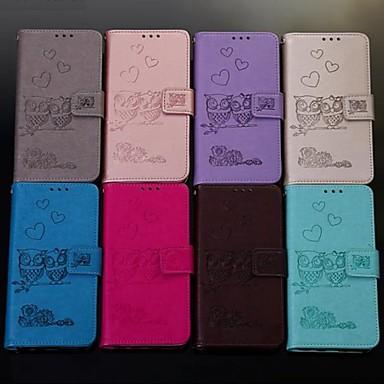 Недорогие Чехлы и кейсы для Galaxy A3-Кейс для Назначение SSamsung Galaxy A6 (2018) / A6+ (2018) / Galaxy A7(2018) Кошелек / Бумажник для карт / Флип Чехол Животное Твердый Кожа PU