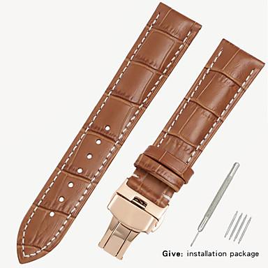 billige Herreure-erstatningsvæv 1853 mænds læder ur med locke kvinders læder konge casio longines armbånd tilbehør 18/19/20 / 21mm