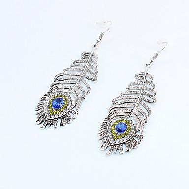 db6bf9c11d23 abordables Pendientes-Mujer Pendientes colgantes Diamante Sintético Aretes  Pavo real Vintage De moda Joyas Dorado