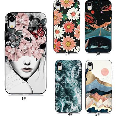 voordelige iPhone 7 hoesjes-hoesje voor apple iphone xr / iphone xs max patroon achterkant bloem / landschap zachte tpu voor iphone 6/6 plus / 6s / 6s plus / 7/7 plus / 8/8 plus / x / xs