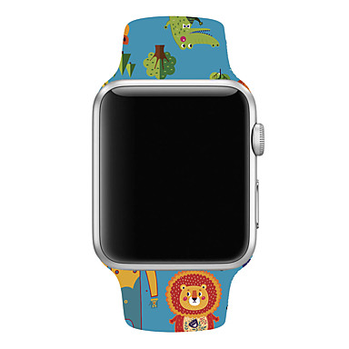 Недорогие Ремешки для Apple Watch-Ремешок для часов для Серия Apple Watch 5/4/3/2/1 / Apple Watch Series 4/3/2/1 Apple Спортивный ремешок силиконовый Повязка на запястье