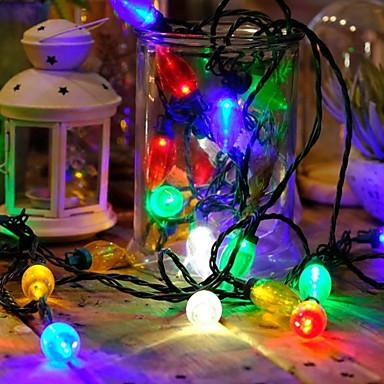 15m Cordões de Luzes 50 LEDs Multicolorido Decorativa 220-240 V 1conjunto