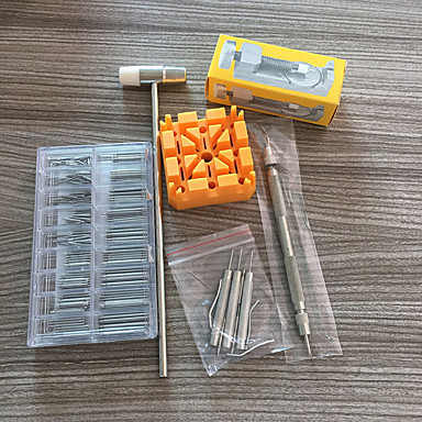 cheap Men's Watches-17pcs Watch Repair Mixed Material Watch Accessories Disassembly tool Small hammer