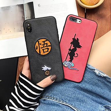 voordelige iPhone 7 hoesjes-hoesje Voor Apple iPhone XS / iPhone XR / iPhone XS Max Patroon Achterkant Cartoon Hard tekstiili / PC