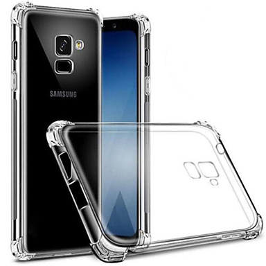 voordelige Galaxy S-serie hoesjes / covers-hoesje Voor Samsung Galaxy S9 / S9 Plus / S8 Plus Stofbestendig / Transparant Achterkant Transparant Zacht TPU