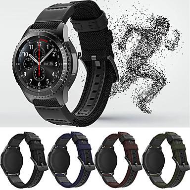 Недорогие Часы для Samsung-Ремешок для часов для Gear S3 Frontier / Gear S3 Classic / Samsung Galaxy Watch 46 Samsung Galaxy Спортивный ремешок Кожа / Нейлон Повязка на запястье